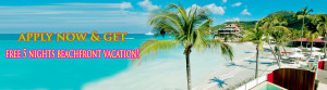 Apply for loan & get free 5 night beachfront vacation